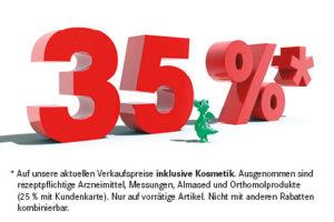 35 % mit Kundenkarte auf alles*