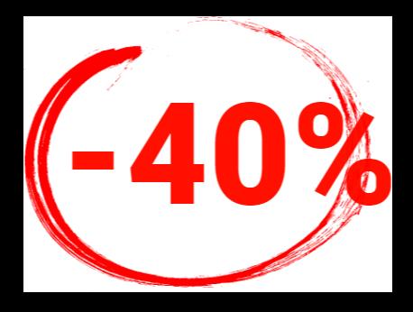 40 % Rabatt