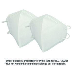 2 FFP2-KN95 Atemschutzmasken<br>für nur 5,99 €²