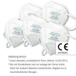 10 x FFP2 Masken nur 7,99 €²<br>50 x FFP2 Maske nur 34,99 €²
