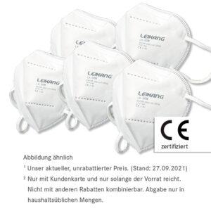 10 x FFP2 Masken nur 5,90 €²<br>50 x FFP2 Maske nur 26,50 €²